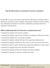Top8laboratoryassistantresumesamples 150331220707 Conversion Gate01 Thumbnail 4 Jpg Cb 1427857670