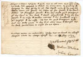 john proctor tragic hero writework deposition of abigail williams v george jacobs sr