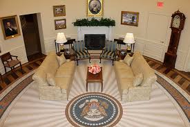 oval office rug. A Photo Of The Replica Oval Office In George W. Bush Presidential Center Rug