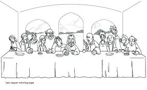 On A Budget Last Supper Coloring Page Dreadeorg