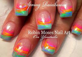 SPRING Nail Art For Beginners | Easy Rainbow Nail Art Design ...