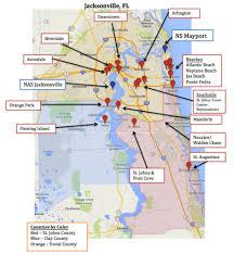 map of jacksonville  mayport florida  military town advisor