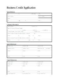 Wholesale Credit Application Sample Credit Application Mwb Online Co