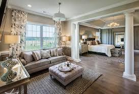 Traditional Master Bedroom with Custom Endura-Series Columns, Crown  molding, Hardwood floors,