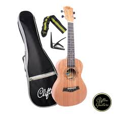 clifton cuk 520 23 inch starter mahogany ukulele with complete accessories and gigbag