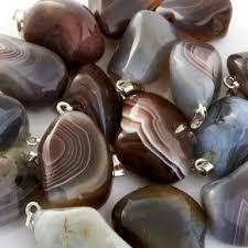 Купить украшения из натуральных камней <b>серого</b> цвета в ...