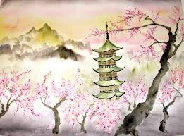 anese cherry blossom drawings anese cherry tree painting
