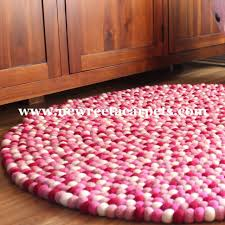 light pink round rug felt ball rugs area ikea pale small circular cambridge ivory x hot