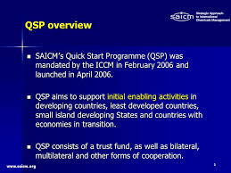 www.saicm.org 3 SAICM ' s Quick Start Programme (QSP) was