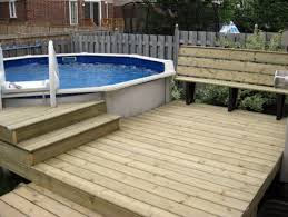 Small Deck Surround For Above Ground Pool Traditionaldeck  Houzz