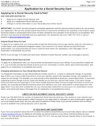 social security forms and templates pdf