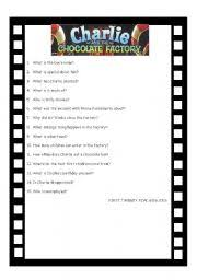 english worksheets charlie and the chocolate factory worksheets charlie and the chocolate factory answer some comprehension questions after watching