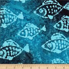 Batik Fish Design Ocean Grove Batik Small Fish Blue Multi From Fabricdotcom