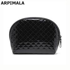 arpimala 2017 women cosmetic bag patent leather makeup bag quilted shell beauty case necessaries clutch organizer travel make up y181122 designer makeup