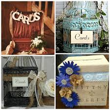 Rustic Wedding Decorations with Old Suitcase, Bird Cages, and Burlap Card  Box