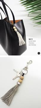 reckon you could diy a leather tassel keyring i know you could