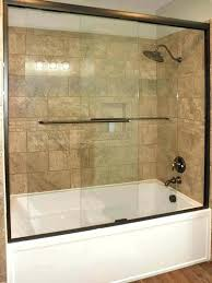 barn door shower rs r doors oil rubbed bronze sliding glass a crystalline bypass showers brushed nickel
