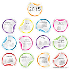 2015 Calendar Pages Clipart Collection