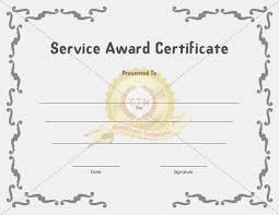 Recognition Of Service Certificate Template - Whosonline.co