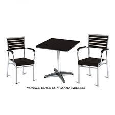 monaco outdoor bistro sets black non wood slats