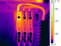 Image result for thermal image of faulty machinery electrical system