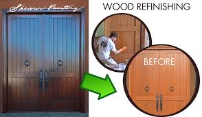 refinishing front doorWood Door Refinishing  Shearer Painting