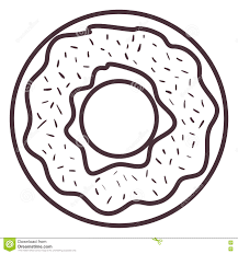 Silhouette Design Shop Isolated Donut Silhouette Design Stock Illustration