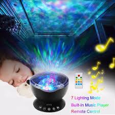 Iavo Night Light Wall Adapter Included Iavo Remote Control Ocean Wave Led