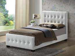 amazoncom white  twin size  modern headboard tufted design