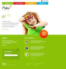 Kids School Website Template Art School Responsive Website Template 44002