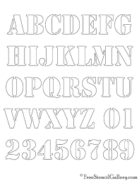 Stencil Letters Alphabet Stencil Free Stencil Gallery