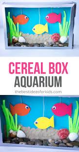cereal box aquarium craft for kids