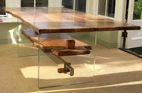 glass oak dining table round glass
