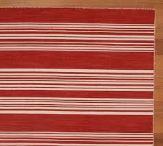 talia stripe dhurrie rug traditional rugs by pottery red and white