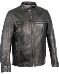 milwaukee leather men s zip front classic moto leather jacket black