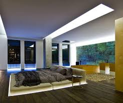 hidden lighting. 9 Bedrooms With Beds That Feature Hidden Lighting // 2. This Bed Is Dropped D