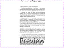 romeo and juliet essay ideas term paper service romeo and juliet essay ideas what are some ideas for the introduction paragraph of an