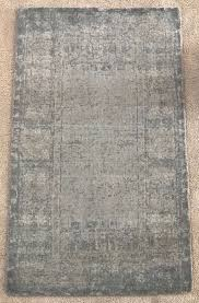 pottery barn kailee printed rug porcelain blue 3x5 hand tufted handwoven wool