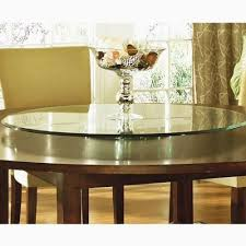 54 round glass dining table entertaining steve silver avenue table top lazy susan 40 inch round