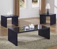 ... Coffee Tables, Beautiful Blaack Rectangle And Square Metal Modern  Coffee Table Sets With Glass Top ...
