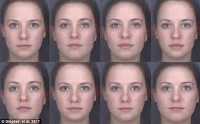 the woman in the top far right image is thought to be the healthiest based