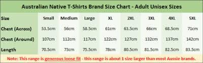 3xl Shirt Size Chart Sizing Charts Australian T Shirts Gifts