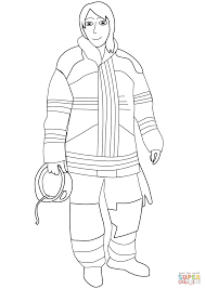 Small Picture Female Firefighter coloring page Free Printable Coloring Pages