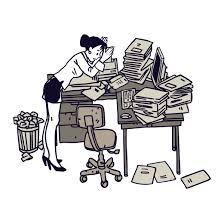 messy desk clipart.  Desk Disorganized Clipart Group Messy Desk  In A