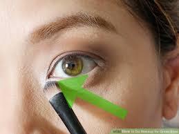 image led do makeup for green eyes step 8