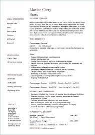 Nanny Resume Template Unique 48 New Nanny Resume Samples Tonyworldnet