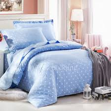 country high end blue polka dots kids full size bedding sets