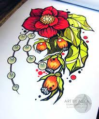 цветок тату эскизы разные цветы татуировки 10 букеты разные