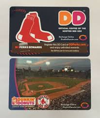 dels about dunkin donuts gift card boston red sox fenway park 2006 2016 mint