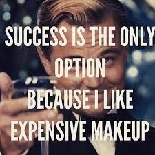 success is the only option because i like expensive makeup